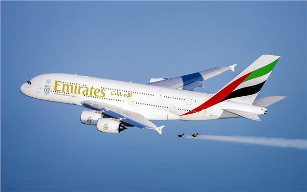 阿聯酋航空(Emirates)A380(圖/翻攝自YouTube)