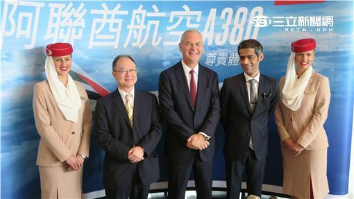 阿聯酋A380飛台灣,商務長:供給創造需求。(圖/記者簡佑庭攝影)