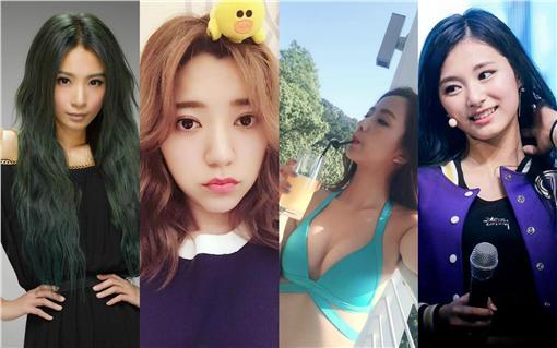 《愛上哥們》官方臉書、賴雅妍、周子瑜、HEBE、郭雪芙、周曉涵臉書