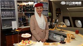 阿聯酋航空A380機上貴賓休息室。(圖/記者簡佑庭攝影)
