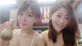 ▲珍奶姊妹花直播開賣 網友:到底賣什麼(圖/Jocelyn Kao牛奶兒粉專)