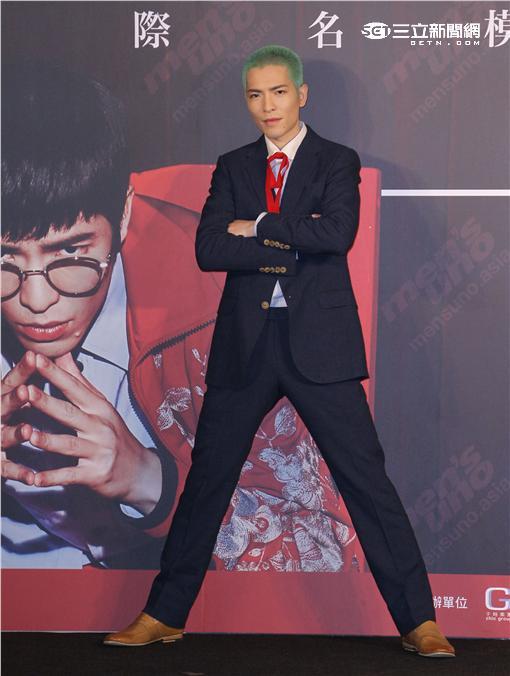 蕭敬騰擔任台灣最大男模選拔大賽代言人。(記者邱榮吉/攝影)