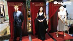 微風之夜請來香港杜莎夫人蠟像館的三座蠟像。(圖/記者簡佑庭攝影)