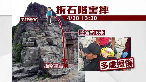 風管處拆龍洞石階 遊客6米高慘摔送醫