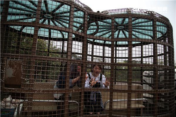 關西六福莊「勇闖猛獸島」籠車體驗。(圖/記者簡佑庭攝影)