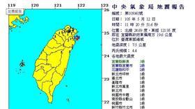 0512餘震/翻攝自中央氣象局