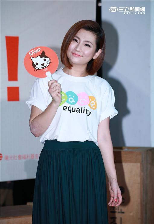 20160513-Selina(右)出席陽光基金會臉部平權特展