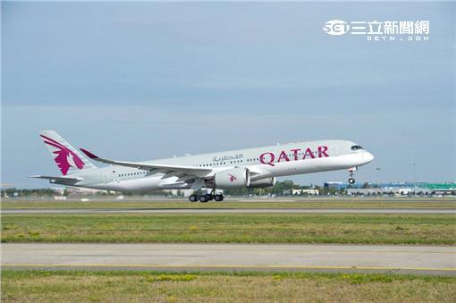 卡達航空A350內裝。(圖/翻攝自卡達航空臉書)