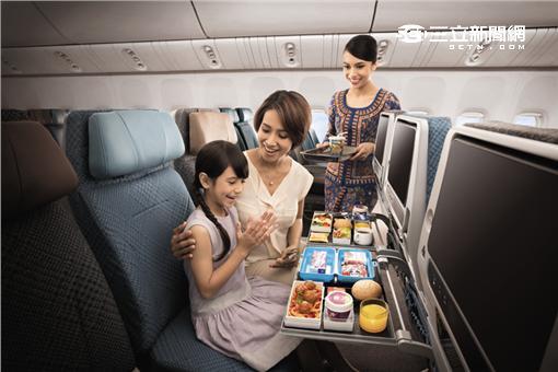 新加坡航空A350內裝。(圖/翻攝自新航臉書)