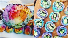 RainbowSushi,彩虹壽司,彩色,color-組圖/翻攝自letscookvegan IG、starrcharms IG https://www.instagram.com/p/BFXnNrvjl-W/?tagged=rainbowsushi https://www.instagram.com/p/BCWaPy5s_3E/?tagged=rainbowsushi