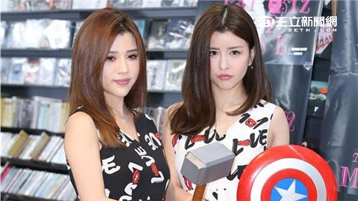 """雙胞胎女子團體BY2返台舉辦最新專輯""""勇者無懼,不躲喵喵""""簽名會與歌迷們相見歡(鄭先生)"""