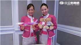 樂桃航空空姐。(圖/記者簡佑庭攝影)