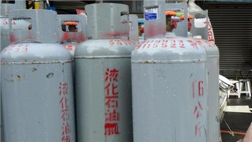 液化石油氣(桶裝瓦斯)、瓦斯桶(圖/中央社)