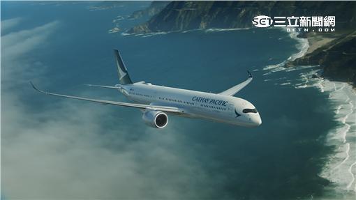 國泰航空空中巴士A350客機。(圖/國泰航空提供)
