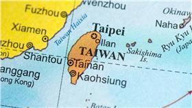 台灣,地圖(圖/shutterstock/達志影像)