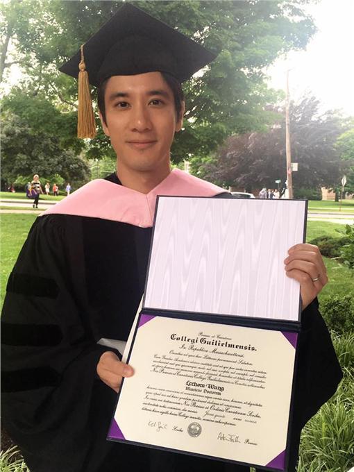 王力宏,博士學位,圖/王力宏臉書