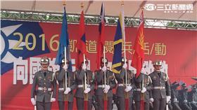 ▲「五年級生踢正步」活動(圖/記者盧冠妃攝)