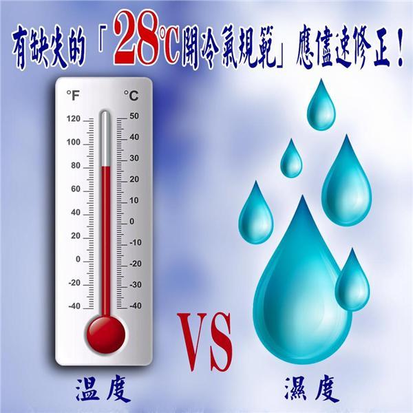 溫度計,冷氣,濕度,氣溫 圖/翻攝自環保食安志工臉書