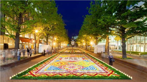 北海道札幌花毯節。(圖/翻攝自Sapporo Flower Carpet臉書)