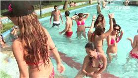 仿效「池畔派對」 辣!泳池湧進比基尼正妹(資料照)游泳,戲水,玩水,游泳池,