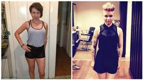 同志,Charlotte Malley,刺青,自殘,同性戀 圖/翻攝自Daily Mail、Charlotte Malley臉書