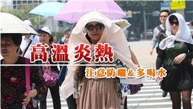 高溫炎熱(圖/中央社)