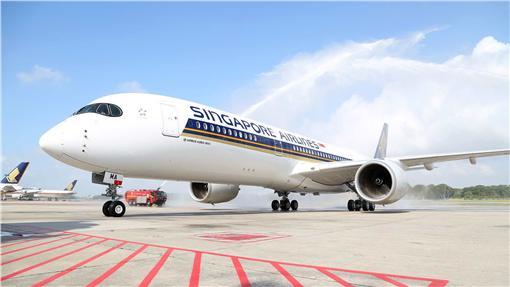 新航A350客機。(圖/翻攝自新航臉書粉絲頁)