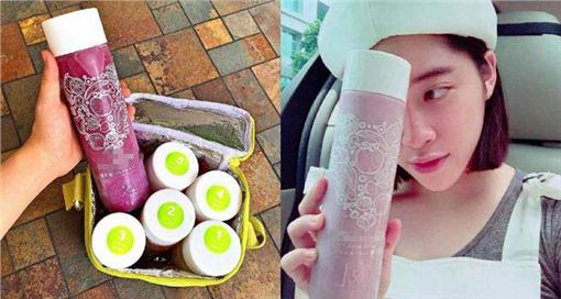 歐陽妮妮 冷壓果汁 (圖/歐陽妮妮臉書)