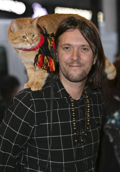 ▲遇見街貓Bob。(圖/翻攝自James Bowen & Streetcat Bob臉書)