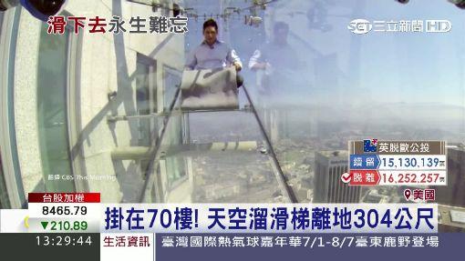 """膽小勿入! 美""""透明""""滑梯.離地300公尺"""