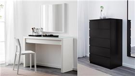 MALM,IKEA,宜家家居,衣櫃,梳妝台(合成圖/翻攝自IKEA網站) http://www.ikea.com/tw/zh/catalog/products/20196483/ http://www.ikea.com/tw/zh/catalog/products/90158251/