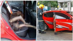 加油站,爆炸,手機,燃燒,灼傷 圖/翻攝自Sin Chew Daily 星洲日報 Twitter