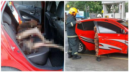 加油站,爆炸,手機,燃燒,灼傷圖/翻攝自Sin Chew Daily 星洲日報 Twitter