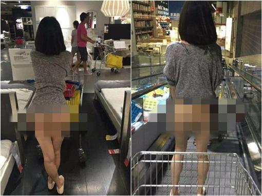 宜家裸女翻攝網路(微博)