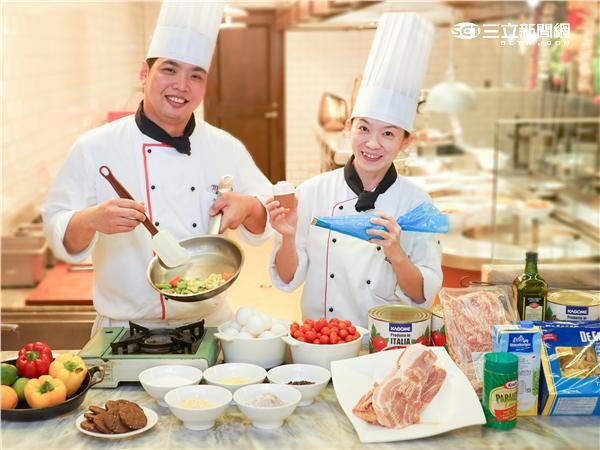 台北威斯汀六福皇宮暑期親子廚藝教室。(圖/六福皇宮提供)