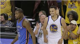 Kevin Durant,Stephen Curry,NBA(ap)