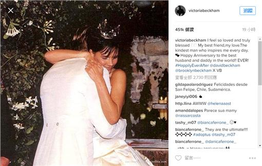 貝克漢夫妻圖/victoria instagram
