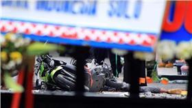 印尼梭羅警察總部遭自殺炸彈客騎車攻擊(圖/路透社/達志影像)