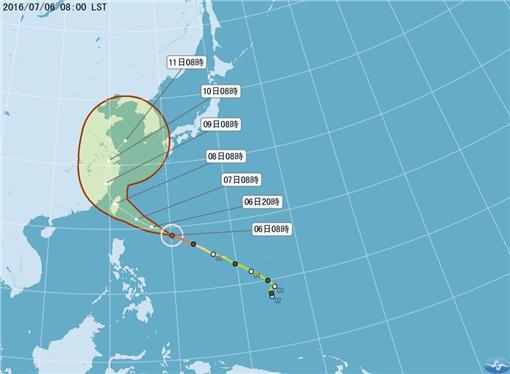 颱風,中央氣象局,尼伯特,強颱圖/翻攝自中央氣象局