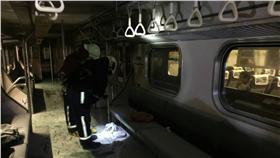 松山火車站區間車爆炸-圖/民眾提供