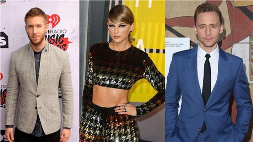 凱文哈里斯,泰勒絲,湯姆希德斯頓,Calvin Harris,Taylor Swift,Tom Hiddleston 圖/達志影像
