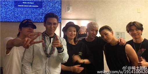 翻攝自章子怡微博 BIGBANG