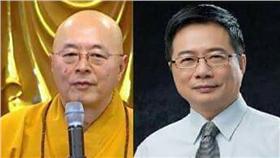 海濤法師、蔡正元合成圖(圖/批踢踢)