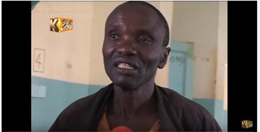 肯亞男子教不到女朋友自宮(圖/翻攝自K24TV YouTube)