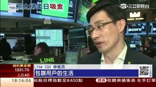 Line美日雙掛牌! 股價開盤皆飆破40%