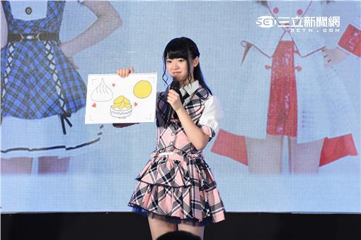 日本女子團體AKB48首位台灣成員馬嘉伶率團員佐藤七海.倉野尾成美返台會粉絲