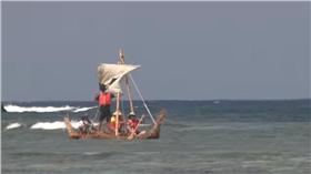 日本草船測試航程成功。(圖/翻攝自NMNSTOKYO YouTube)