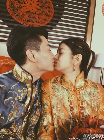 陳妍希陳曉719北京大婚/翻攝自新浪娛樂