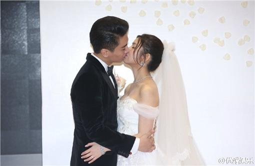 陳妍希,陳曉,婚禮,結婚,圖/優酷娛樂微博
