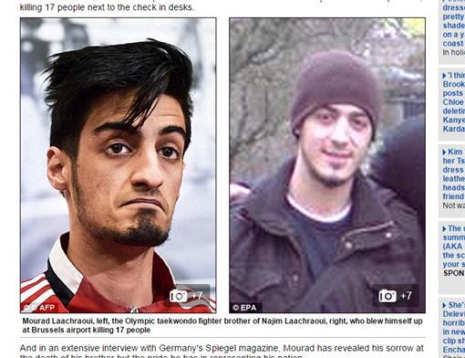 恐怖攻擊,比利時,布魯塞爾機場,跆拳道,國手,Najim Laachraoui,Mourad Laachraoui/翻攝自每日郵報